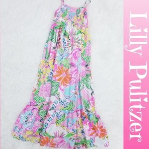 Lilly Pulitzer Kids Nosie Posie Maxi Dress